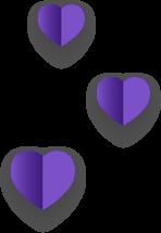 紫色愛心-左