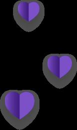 紫色愛心-右